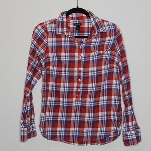 J. Crew Plaid Long Sleeve Shirt